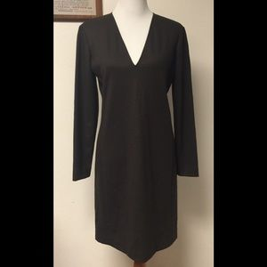 Theory NWT Tonea Sz 10 Long Sleeve Brown Dress